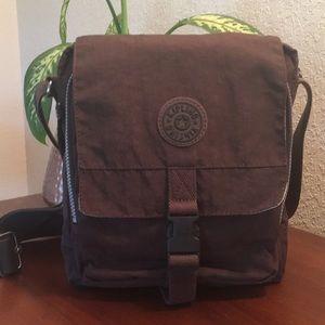 🌸 KIPLING Lancelot Brown Crossbody Shoulder Bag!